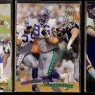 CORTEZ KENNEDY (3) Card Lot (1994 + 1996).  SEAHAWKS