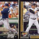 NATE McLOUTH 2010 Upper Deck #73 + 2009 UD 1st Edition #234.  BRAVES / PIRATES