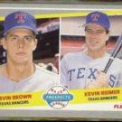 KEVIN BROWN 1989 Fleer Prospects #641.  RANGERS