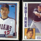 MIKE HARGROVE 1984 Topps #764 + 1992 Topps #609.  INDIANS