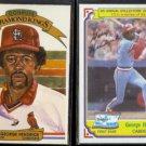 GEORGE HENDRICK 1982 Donruss Diamond King #9 + 1984 Topps Drake's #4.  CARDS