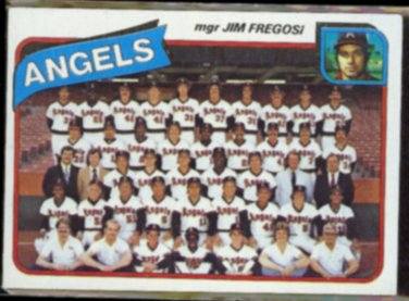 JIM FREGOSI 1980 Topps #214.  ANGELS Team Card