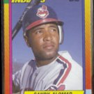 SANDY ALOMAR 1990 Topps Traded #2T.  INDIANS