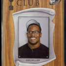 VON MILLER 2011 Press Pass Trophy Club #59.  TEXAS A&M