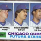 JAY HOWELL 1982 Topps Future Stars #51.  CUBS