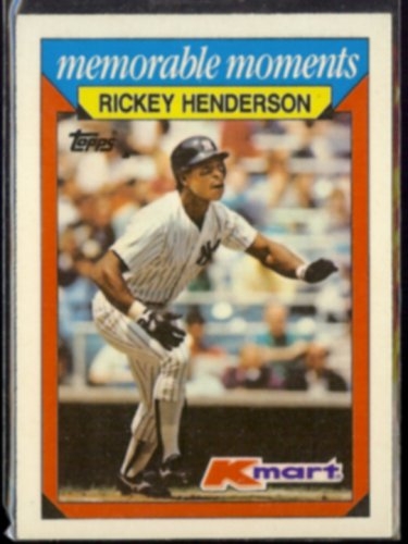 RICKEY HENDERSON 1988 Topps KMart #13.  YANKEES