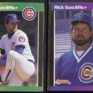RICK SUTCLIFFE 1989 Donruss Best #138 + 1989 Donruss #223.  CUBS
