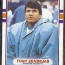TONY ZENDEJAS 1989 Topps #99.  OILERS