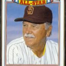 DICK WILLIAMS 1986 Topps All Star Glossy #12 of 22.  PADRES