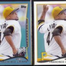 FRANCISCO LIRIANO 2014 Topps Blue #114 + Sister.  PIRATES