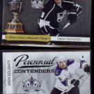 DREW DOUGHTY 2010 Panini  Playoff Contenders #7 + Playoff Perennial Contenders #4.  KINGS