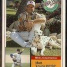 MATT YOUNG 1993 Milkbone Stars Insert #9 of 20.  RED SOX