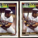 CECIL FIELDER 1992 Topps GOLD All Star w/ sister Winner Gold.  TIGERS