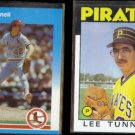 LEE TUNNELL 1987 Fleer Update #119 + 1986 Topps #161.  PIRATES