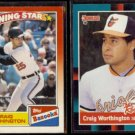 CRAIG WORTHINGTON 1990 Topps Bazooka + 1988 Donruss The Rookies.  ORIOLES