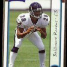 CHRIS McALISTER 1999 Bowman Rookie #152.  RAVENS