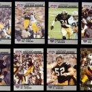 STEELERS (8) Card Lot w/ (7) 1990 Pro Set SUPERMEN + 1995 Woodson.