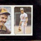 JIM PALMER 1984 Topps mini Sticker #211.  ORIOLES
