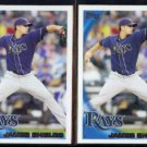 JAMES SHIELDS (2) 2010 Topps #195.  RAYS