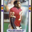 DEXTER MANLEY 1989 Topps #262.  REDSKINS