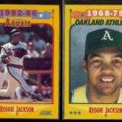 REGGIE JACKSON (2) 1988 Score #503 + #500.  ANGELS + A's