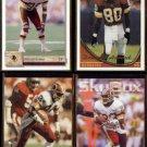 REDSKINS (4) Card Star Lot (1991 - 1994) w/ Green, Howard, Sanders, Clark.