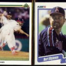 BERT BLYLEVEN 1990 Upper Deck #527 + 1990 Fleer #128.  ANGELS
