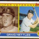 GRAIG NETTLES 1983 Topps Super Veteran #636.  YANKEES