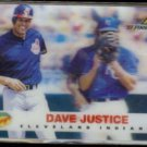 DAVE JUSTICE 1997 Pinnacle Denny's Hologram Insert #5 of 29.  INDIANS