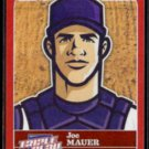 JOE MAUER Sticker 2012 Panini Triple Play #28.  Ad Back - Flimsy Stock