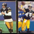 NEIL O'DONNELL 1992 Stadium Club #205 + 1993 Upper Deck SP #224.  STEELERS