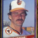 MIKE FLANAGAN 1986 Donruss #576.  ORIOLES