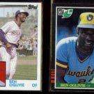 BEN OGLIVIE 1984 Topps #190 + 1985 Leaf #123.  BREWERS