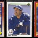 DAVE WINFIELD 1990 Topps, Upper Deck + Score.  YANKEES