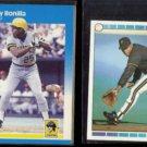 BOBBY BONILLA 1987 Fleer #605 + 1989 Topps mini #131.  PIRATES
