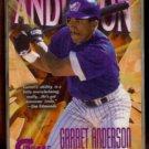 GARRET ANDERSON 1997 Circa #'d Insert 032/150.  ANGELS