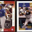 JUAN GONZALEZ 2003 + 2004 Donruss Team Heroes.  RANGERS / ROYALS
