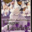 ANDRES GALARRAGA 1994 Ultra Leaders Insert #6 of 10.  ROCKIES