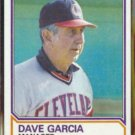 DAVE GARCIA 1983 Topps #546.  INDIANS