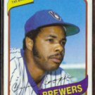 CECIL COOPER 1980 Topps #95.  MILL BREWERS