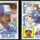 BUCK MARTINEZ 1982 Topps #314 + 1984 Topps #179.  JAYS