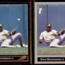 DAVE HENDERSON 1992 Leaf Black GOLD Insert w/ sister.  A's