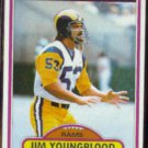 JIM YOUNGBLOOD 1980 Topps #120.  RAMS