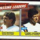 DAN MARINO / TOMMY KRAMER 1987 Topps #227.  DOLPHINS
