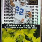 EMMITT SMITH 1996 Pinnacle Zenith Noteworthy Foil Insert #16 of 18.  COWBOYS