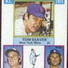 TOM SEAVER 1976 Topps Victory Leaders #199.  METS