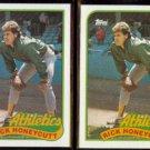 RICK HONEYCUTT (2) 1989 Topps #328.  A's