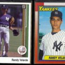 RANDY VELARDE 1989 Upper Deck #189 + 1990 Topps #23.  YANKEES
