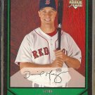 DAVID MURPHY 2007 Bowman Rookie #209.  RED SOX