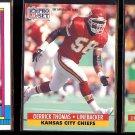 DERRICK THOMAS 1990 Topps Super Rookie + 1991 + 1992 Pro Set.  CHIEFS